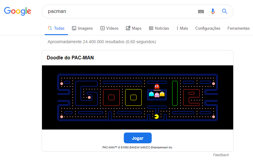 pacman-jogos-funcoes-do-google-webshare