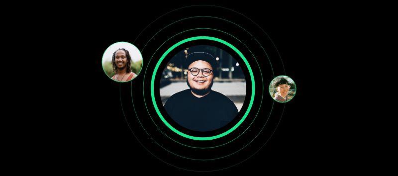 imagem do aplicativo da spotify, greenroom